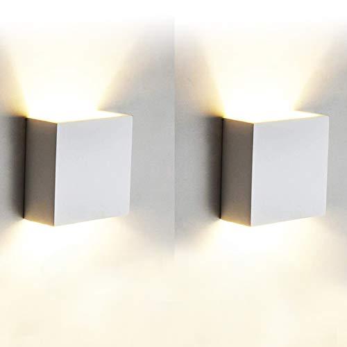 12W Led Wandleuchten Innen Modern, 2 Stücke Wandbeleuchtung 3000K...