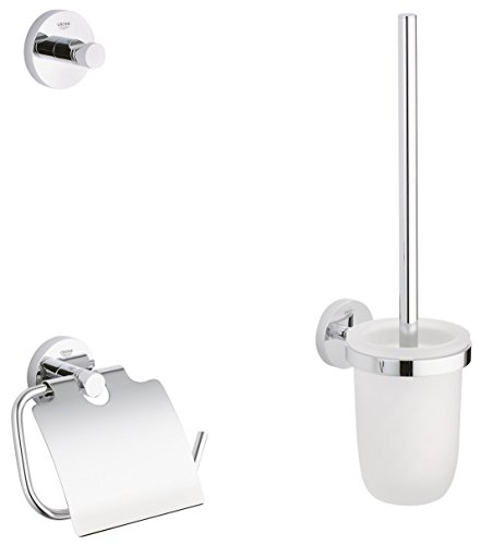 GROHE Essentials Accessoires Bath (WC-Set 3 in 1, Material: Glas /...