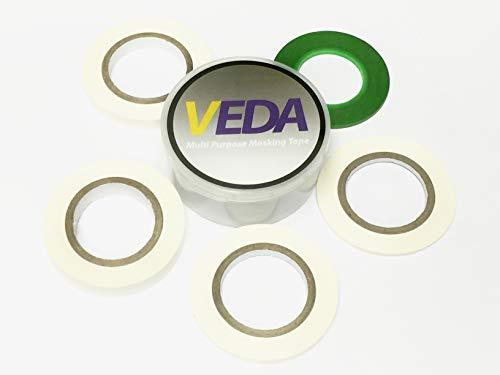 VEDA® GB Set 5 Kurven Klebeband Krepp-Abdeckband 2 mm/3 mm/5 mm/8...
