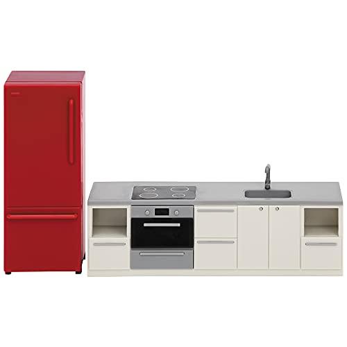 Lundby 60-306600 - Küche Puppenhaus rot/Weiss - Möbel 2-teilig -...