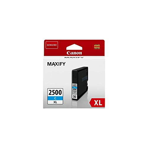 Canon Tintenpatrone PGI-2500 XL C - Cyan 19, 3 ml ORIGINAL für MAXIFY...