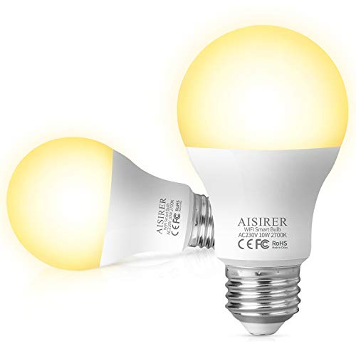 Alexa Smart LED Lampen E27, AISIRER WLAN Glühbirne Dimmbar, 10W...