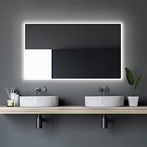 LED Badspiegel Talos Moon 120x70 cm– Lichtfarbe 4200K - Modernes...