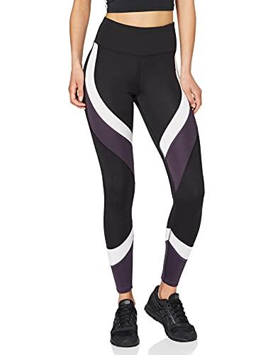 Amazon-Marke: AURIQUE Damen Colour Block-Sportleggings, Schwarz...