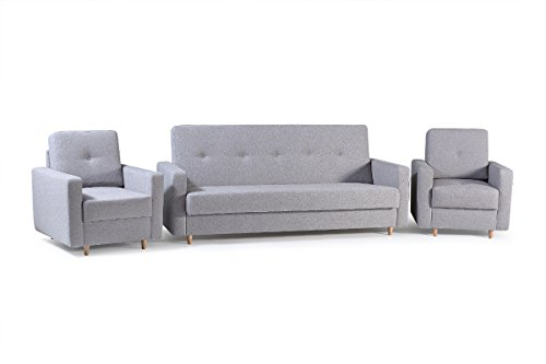 mb-moebel Polstergarnitur 3er Sofa und Zwei Sessel Couch mit...