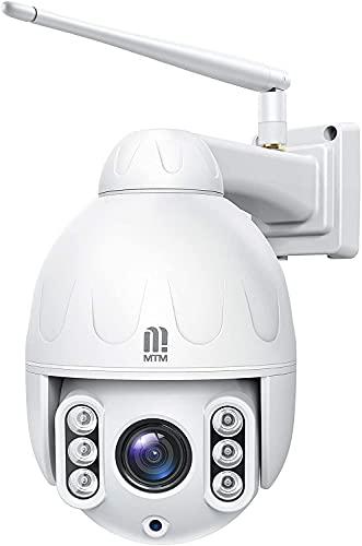 5MP PTZ WiFi Überwachungskamera Aussen, MTM IP Dome Kamera mit 5X...