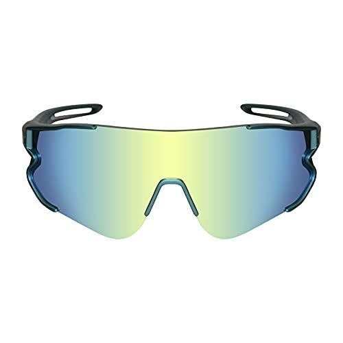 Funní Día Outdoor Radbrille Polarisierte Linse mit TR90 Rahmen Sport...