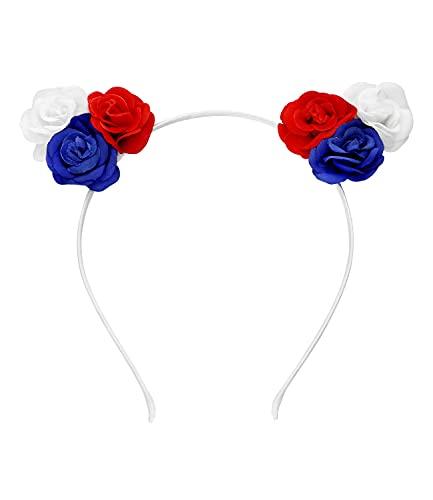 SIX Frankreich elastisches Haarreif mit Blüten, Fanartikel,...