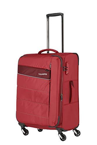 travelite 4-Rad Weichgepäck Koffer Größe M mit Dehnfalte + TSA...