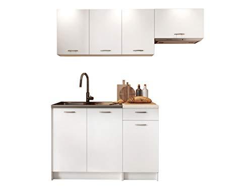 Küche Mela 180/120 cm, Küchenblock/Küchenzeile, 5 Schrank-Module...