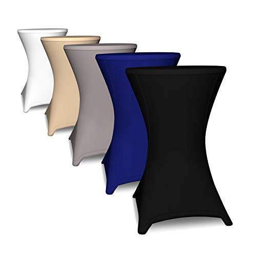 Stehtischhusse in 60cm 75cm 80cm 85cm | Tisch-Überzug für Stehtische...