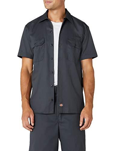 Dickies Herren Freizeithemd Work Shirt Short Sleeved, Charcoal Grey,...