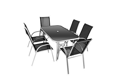 Nexos 7-teiliges Gartenmöbel-Set – Gartengarnitur Sitzgruppe...