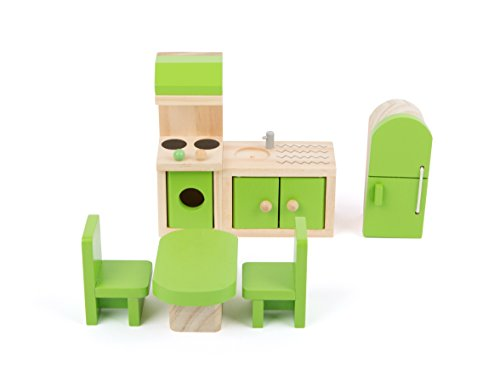 Small Foot 10873 Puppenmöbel aus Holz für die Küche im Puppenhaus,...