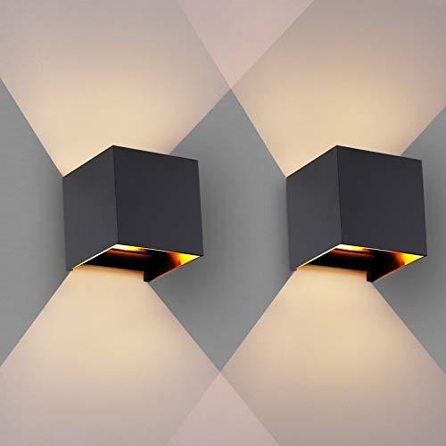 OOWOLF Wandleuchte Innen, [2 Stücke] Wandleuchte Innen Wandlampe 3.8W...