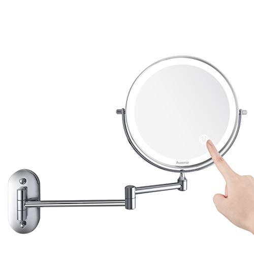 Auxmir Kosmetikspiegel LED Beleuchtet mit 1X / 10X Vergrößerung,...