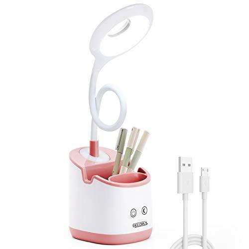 LED Schreibtischlampe Kinder mit Nachtlicht USB Akku Tischlampe...