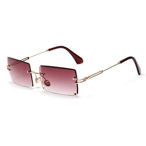 SHEEN KELLY Square Ultra-Small Frame Sonnenbrille für Frauen Männer...