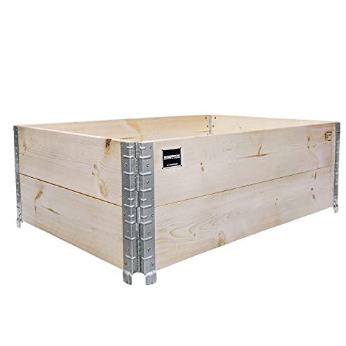 Schroth Home Hochbeet 120x80x40cm rechteckig - Palettenrahmen aus Holz...