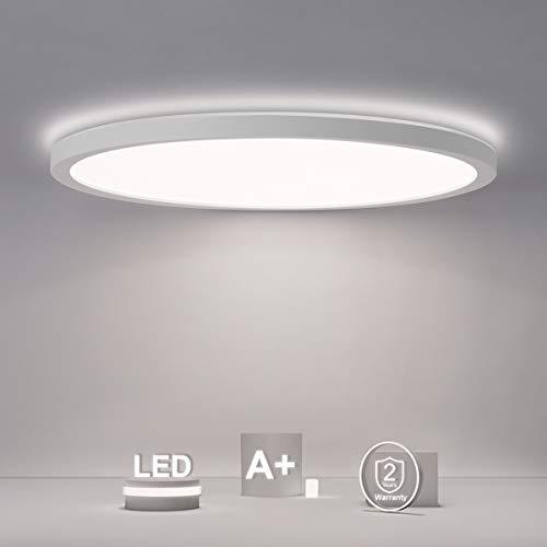 SHILOOK Led Deckenleuchte Rund Flach Panel, 18W 2200LM Deckenlampe...