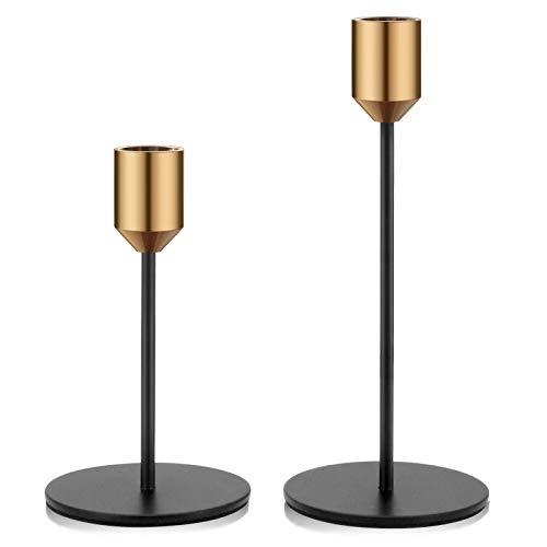 Kerzenständer 2er Set Kerzenhalter Metall dekorativ für Esstische...