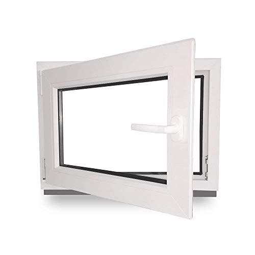 Kellerfenster - Kunststoff - Fenster - innen weiß/außen weiß - BxH:...