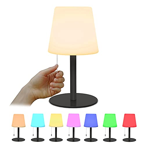 Tischlampe 8 Farben RGB Nachttischlampe Mit Dimmbares Farbwechsel...