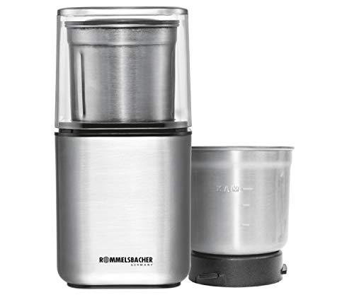 ROMMELSBACHER Gewürz und Kaffee Mühle EGK 200 - 2 Edelstahlbehälter...