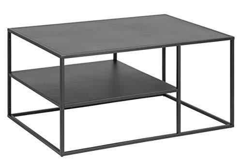 AC Design Nino Couchtisch, schwarz, Metall, B: 90 x H: 45 x T: 60 cm,...