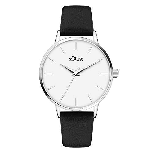 s.Oliver Damen Analog quarz Armbanduhr mit Kunstleder SO-4103-LQ