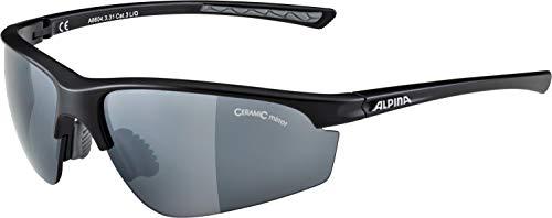 ALPINA Unisex - Erwachsene, TRI-EFFECT 2.0 Sportbrille, black matt,...