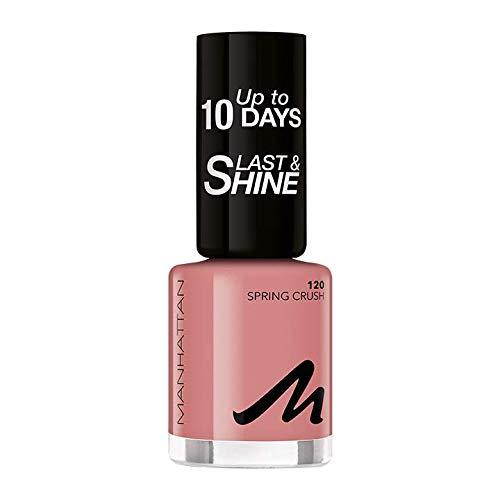 Manhattan Last und Shine Nagellack, Nr.120 Spring Crush, 8 ml