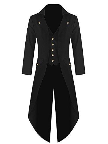 Pxmoda Herren Frack Mantel Steampunk Gothic Jacke Vintage...