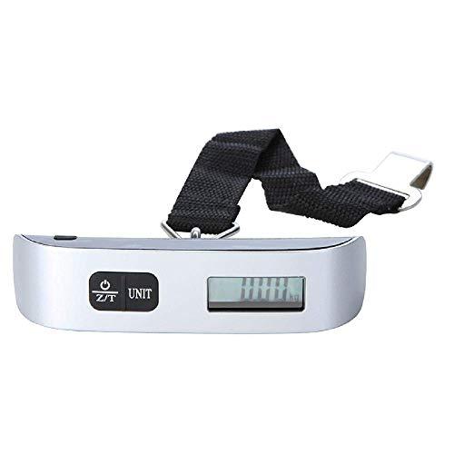 Relaxbx Taschenwaage, 50 kg, mit Haken, Gürtelwaage, LCD-Digitalwaage...