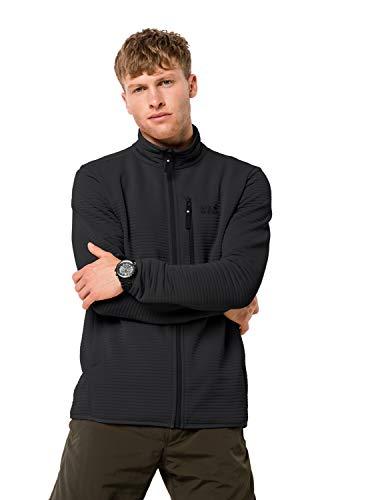 Jack Wolfskin Herren Modesto Jacket Men Warme Fleecejacke, Black, L