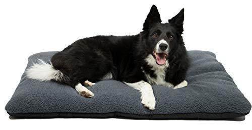 ZOLLNER Hundebett Hundekissen, 67x90 cm, waschbar, grau,...