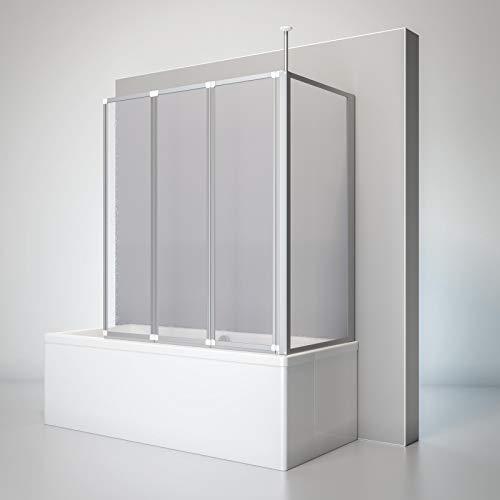 Schulte D160370 01 01 Duschwand Well mit Seitenwand, 129 x 140 x 70...