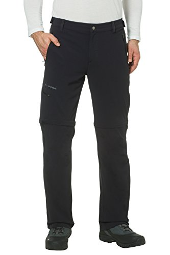 Vaude Herren Farley Stretch T-Zip Hose II, Schwarz, 54/XL , 04575