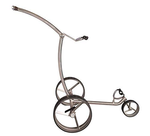 Parccurate 3 Rad Edelstahl Golftrolley Push Trolley Fasan