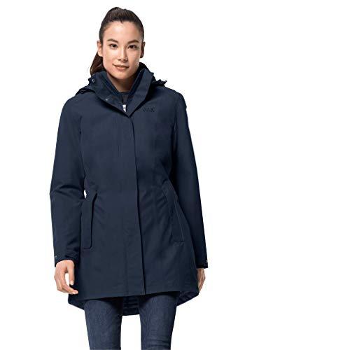 Jack Wolfskin Damen Madison Avenue Coat Mantel, Blau (midnight blue),...