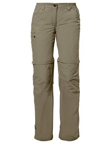 VAUDE Damen Hose Women's Farley ZO Pants IV, muddy, 44, 038734740440