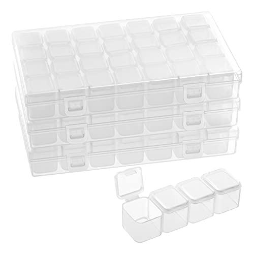 Belle Vous Kunststoff Sortierboxen für Kleinteile mit 28 Fächer (3er...
