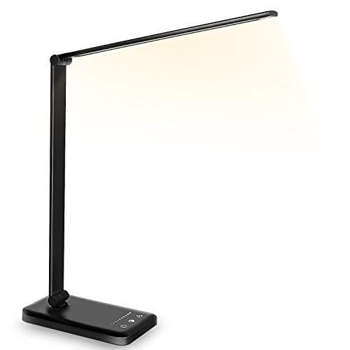 Schreibtischlampe LED Dimmbare Tischleuchte 5 Farb und 10...