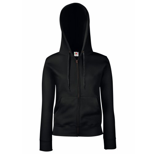 Fruit of the Loom Premium Hooded Sweatjacke Lady-Fit - Farbe: Black -...