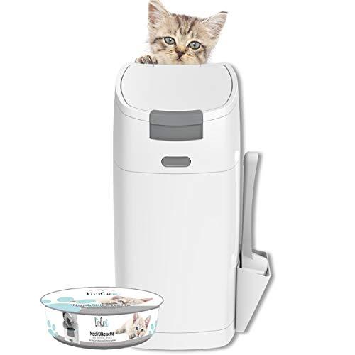 Littycat Katzenstreu Entsorgungseimer mit Schaufel - inkl....