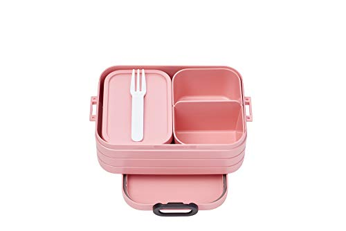 Mepal Bento-Lunchbox Take A Break Nordic pink midi – Brotdose mit...