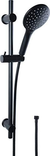 Cornat Brausegarnitur 'Noir' - Black Edition - Handbrause 125 mm - 3...