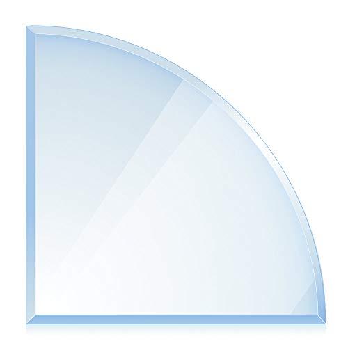 bijon® Funkenschutz-Platte mit Facettenschliff   Glasplatte Kaminofen...