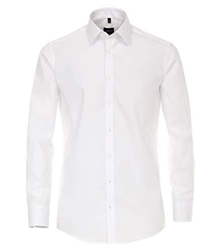 Venti Herren Businesshemd Slim Fit 001480/0, Gr. 39, Weiß (0 weiß)