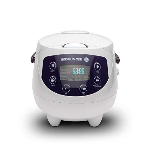 Digitaler Reishunger Mini Reiskocher und Dampfgarer in Weiß -...
